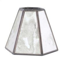 Antique Mirror Chandelier Shade HEXAGONAL.