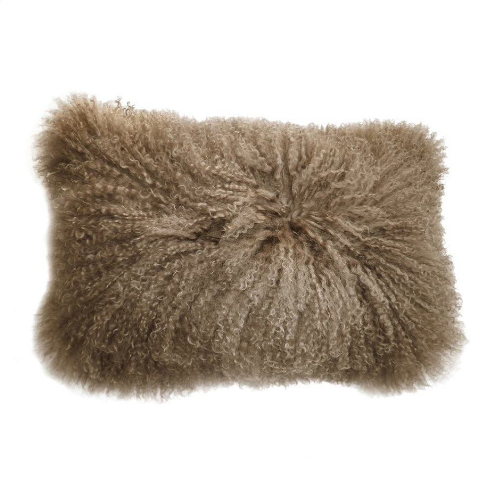 Lamb Fur Pillow Rect. Natural