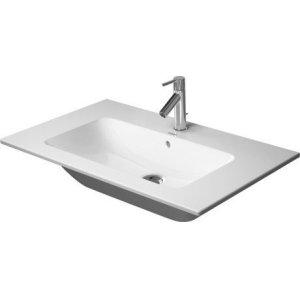 Me By Starck Furniture Washbasin 2 Faucet Holes Pre-marked With Large Distance Between Faucets