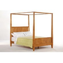 Laurel Bed in Medium Oak Finish