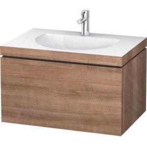 Furniture Washbasin C-bonded With Vanity Wall-mounted, Ticino Cherry Tree (decor)