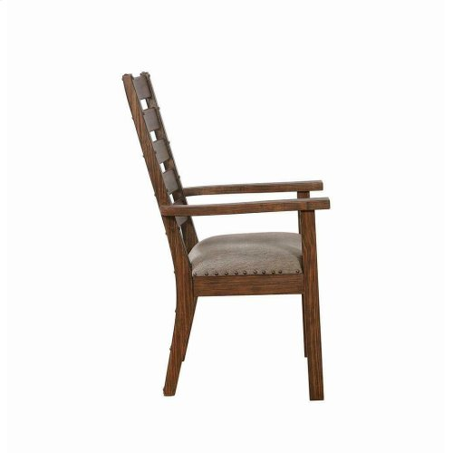 Atwater Industrial Grey Arm Chair
