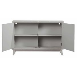 Console Cabinet - Distressed Gray Finish