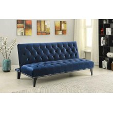 Blue Velvet Sofa Bed