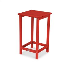 """Sunset Red Long Island 26"""" Counter Side Table"""