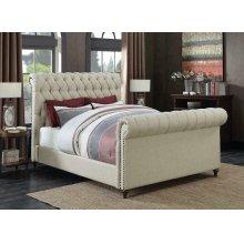 Gresham Beige Upholstered Full Bed
