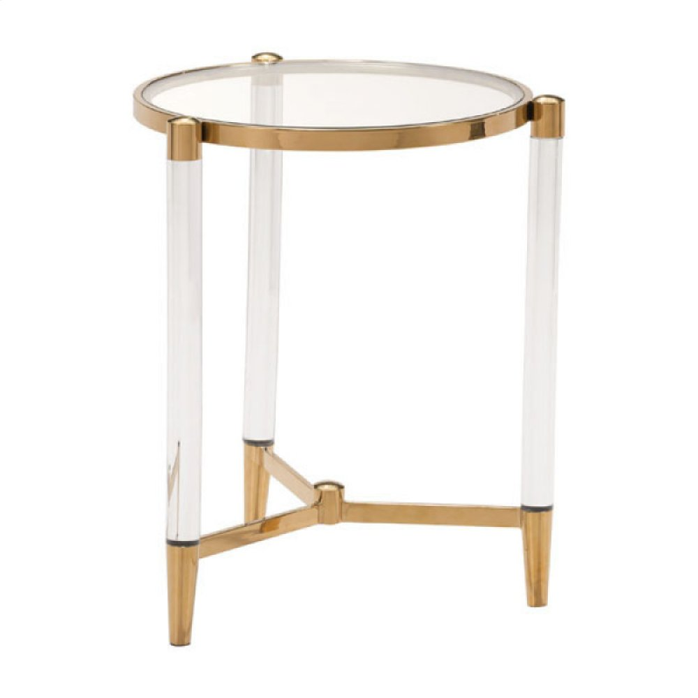 Existential Side Table Gold