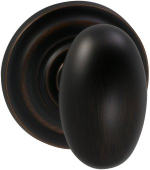 Interior Traditional Egg-shaped Knob Latchset in (TB Tuscan Bronze, Lacquered) Product Image