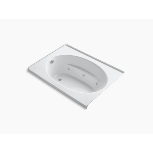 """White 60"""" X 42"""" Alcove Whirlpool With Integral Flange, Left-hand Drain and Heater"""