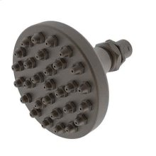 Weathered Brass Single Function Shower Head