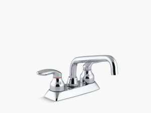 Polished Chrome Utility Sink Faucet With Lever Handles Product Image