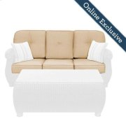 Breckenridge Outdoor Sofa Replacement Cushion Set, Natural Tan Product Image