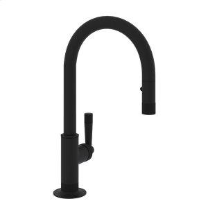 Matte Black Michael Berman Graceline Pull-Down Bar/Food Prep Faucet Product Image