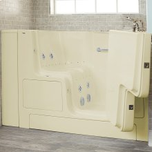 Gelcoat Premium Series 32x52 Outward Opening Door Combo Massage Walk-in Tub, Right Drain  American Standard - Linen