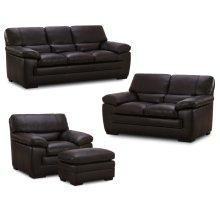6983 FLEETWOOD: Leather Sofa in Stallion Dark Brown (MFG#: 6983-30-MG0B)