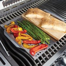 Stainless Steel Multi-functional Topper with Cedar Plank