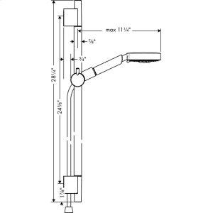 """Brushed Nickel Wallbar Set 120 3-Jet 24"""", 2.5 GPM"""