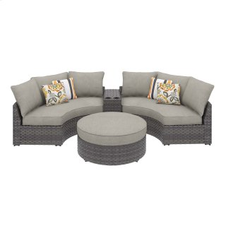 Spring Dew IV Sectional w/ Ottoman & Console
