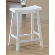 "24"" Bar Stool (White)"