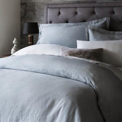 French Linen Duvet Set King White