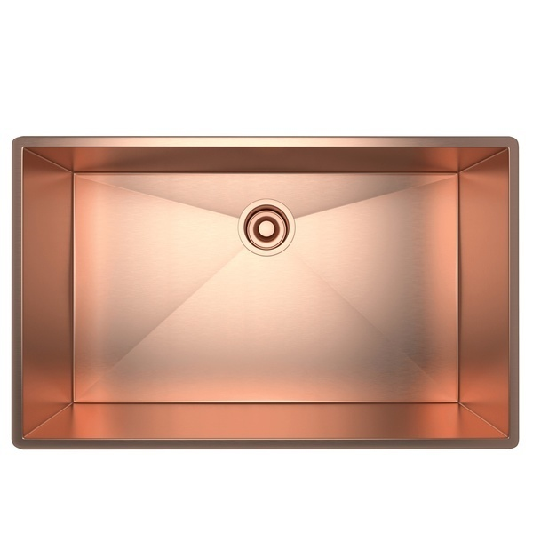 Stainless Copper Forze Single Bowl Stainless Steel Kitchen Sink
