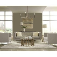 Hemet Modern Light Grey Two-piece Living Room Set