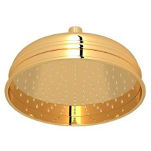 "Italian Brass 8"" Bordano Rain Anti-Cal Showerhead"