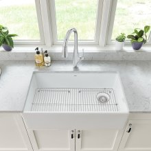 Avery 33 x 20 Single Bowl Farmhouse Kitchen Sink  American Standard - Alabaster White