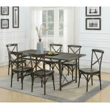 Hawthorne Industrial Chic Brown Dining Table