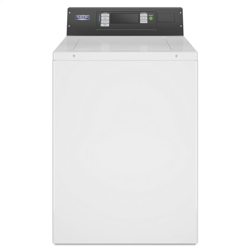 Commercial Top-Load Washer, Card Reader-Ready or Non-Coin Operation White