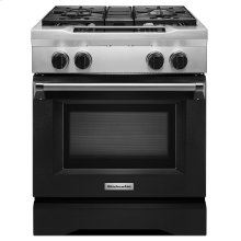 30'' 4-Burner Dual Fuel Freestanding Range, Commercial-Style Imperial Black