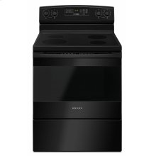30-inch Electric Range with Self-Clean Option - Black