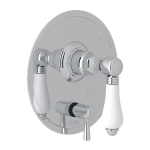 Polished Chrome Italian Bath Pressure Balance Trim With Diverter Product Image