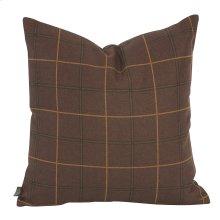"20"" x 20"" Pillow Oxford Chocolate"