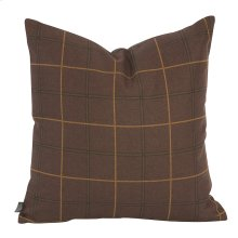 "20"" x 20"" Pillow Oxford Chocolate"