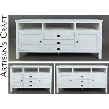 "Artisan's Craft 60"" Media Console - Weathered White"