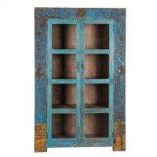 Wood Glass Almirah