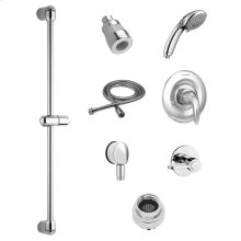 Commercial Shower System Kit with Hand Shower and Fixed Showerhead for Flash Rough Valves - 1.5 GPM  American Standard - Polished Chrome