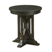 "Mill House 22"" James Round End Table - Anvil Finish"