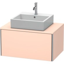 Vanity Unit For Console Wall-mounted, Apricot Pearl Satin Matte (lacquer)