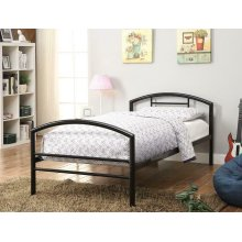 Baines Black Metal Bed