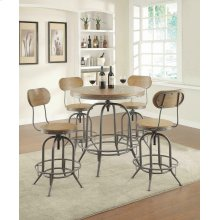 Rustic Graphite Bar Stool