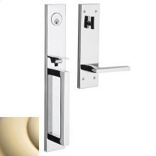 Lifetime Polished Brass Minneapolis Full Escutcheon Handleset