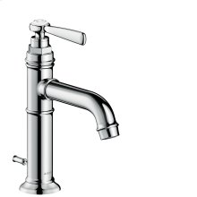 Chrome Single lever basin mixer 100 with lever handle and pop-up waste set