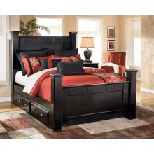 Shay - Almost Black 5 Piece Bed Set (King)