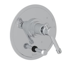 Polished Chrome Campo Pressure Balance Trim With Diverter with Industrial Metal Levers