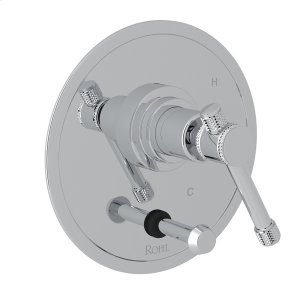 Polished Chrome Campo Pressure Balance Trim With Diverter with Industrial Metal Levers Product Image