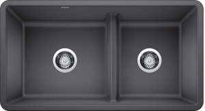 Blanco Precis Reversible 1-3/4 Bowl With Low Divide - Cinder Product Image