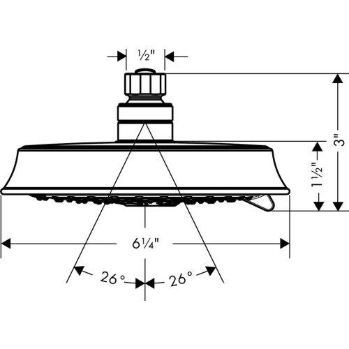 Chrome Showerhead 150 3-Jet, 2.5 GPM