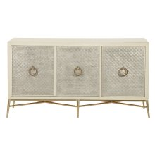 Salon Media Console in Alabaster (341)